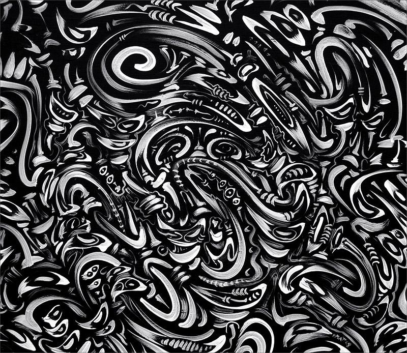 """Untitled, acrylic on board, 14X15"""", 2008"""