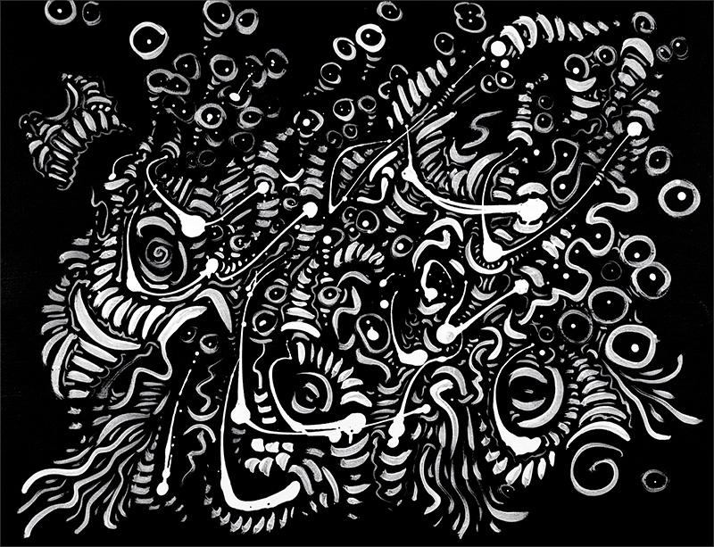 "Untitled, acrylic on canvas 11X14"", 2008"