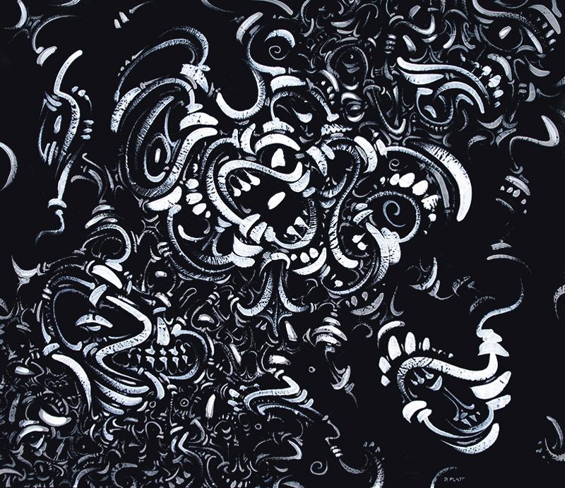 """Voracious acrylic on canvas, 20X24"""", 2011"""