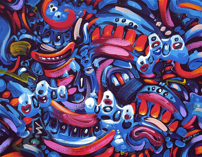 "Untitled acrylic on canvas, 11X14"", 2011"