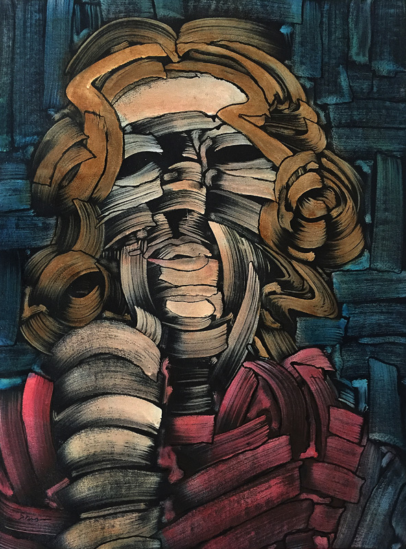 "Untitled, acrylic on canvas, 18X24"". 2016"