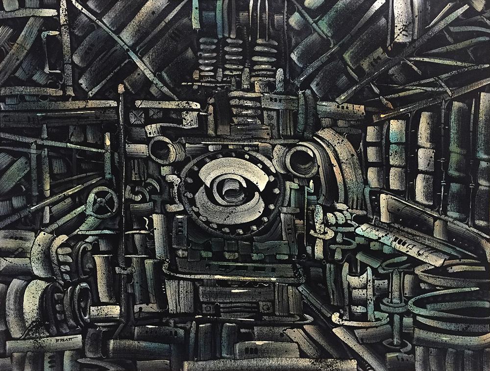 "Welcome My Son 1, acrylic on canvas, 18X24"". 2016"