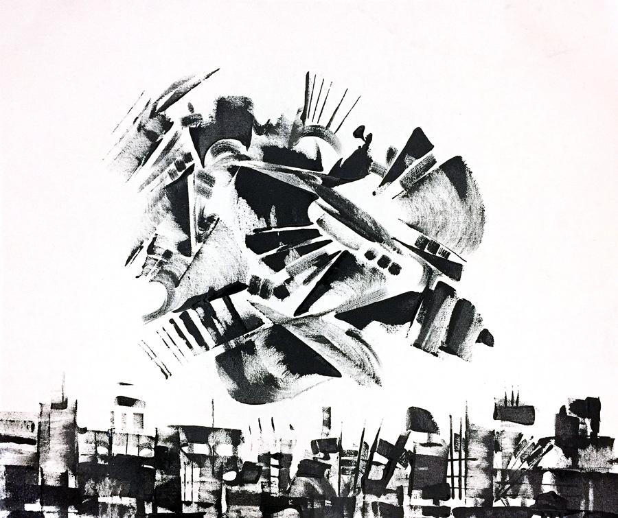 "Untitled, acrylic on canvas, 18X24"", 2017"
