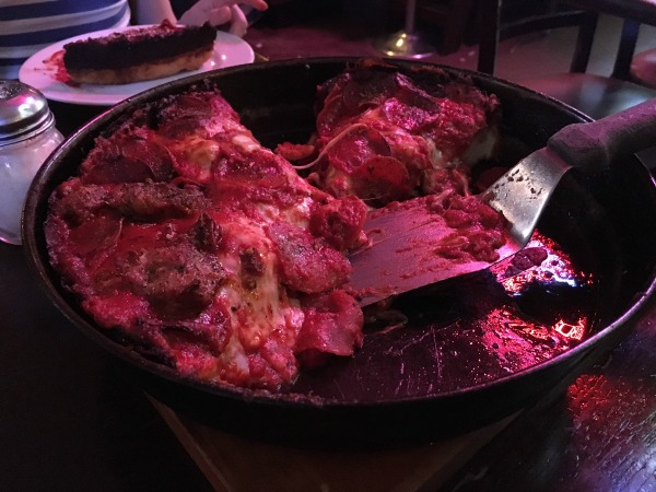 You can't handle the deep dish! Seriously, don't. It's super hot.