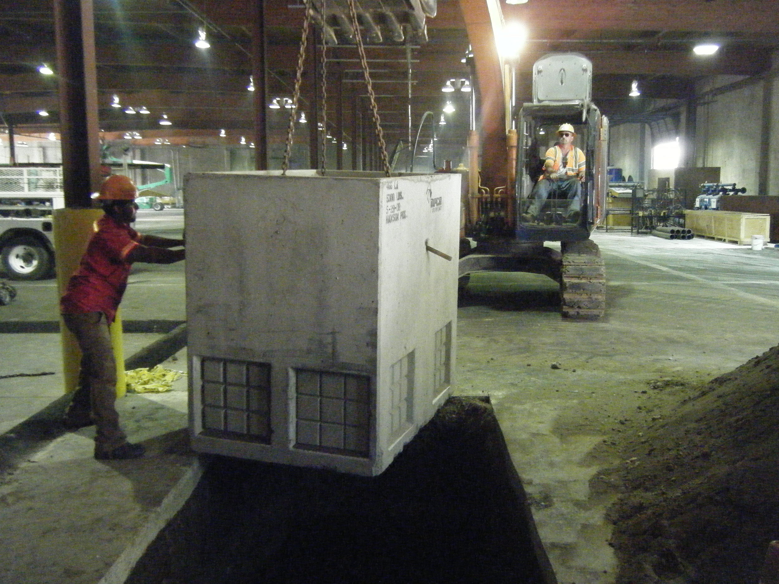 We provide vault and tank installation services