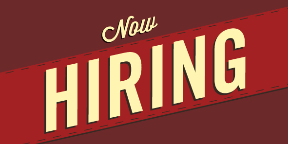 See our latest job listings on our Indeed page. -