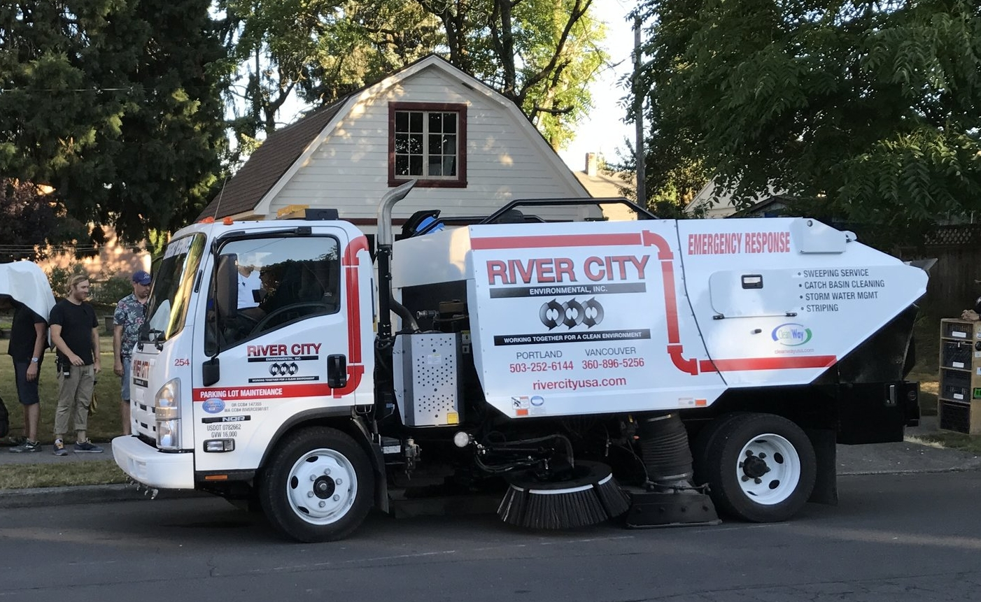 Our sweeper trucks will help make your lot safe