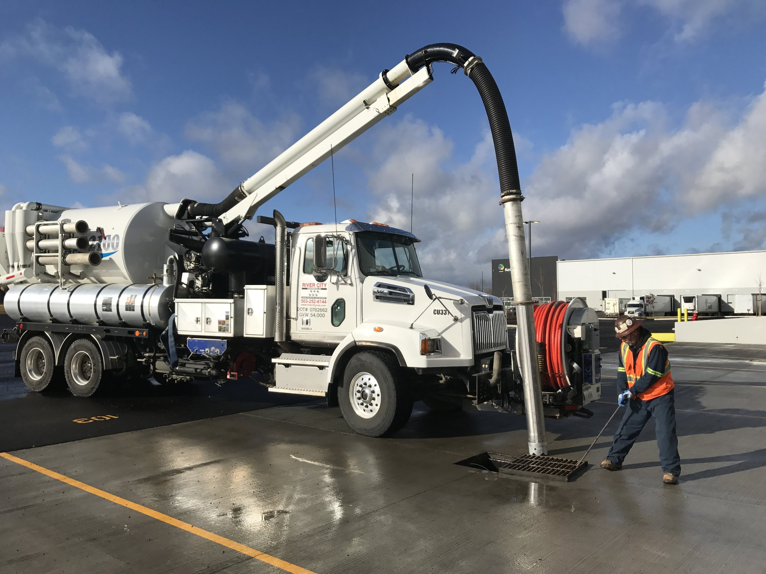 Industrial parking lot and vactor truck services