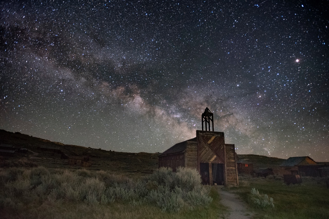 Milky Way over the Bodie Firehouse, by former student Marcy Pinetti