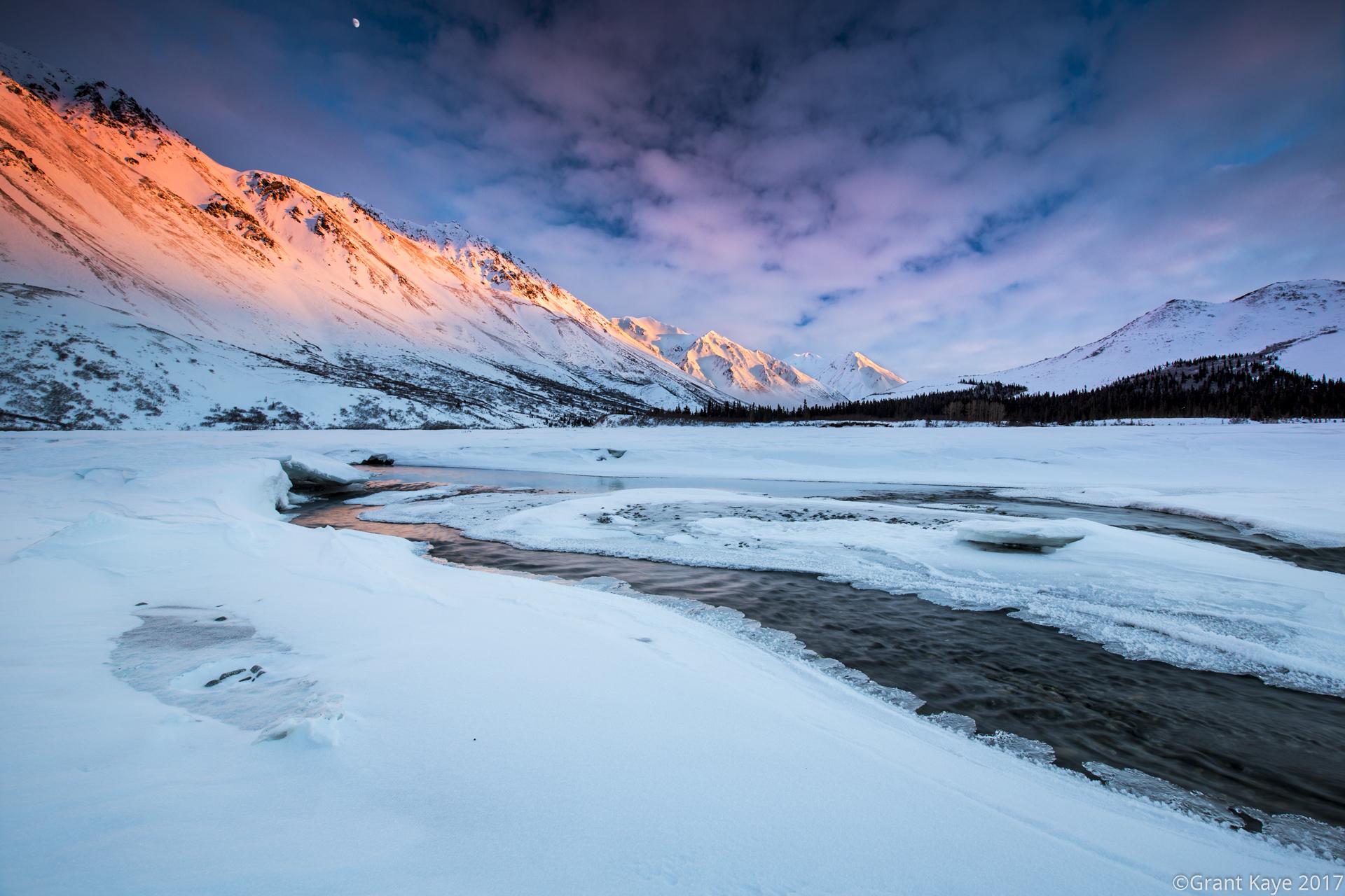 Last Light in the Alaska Range