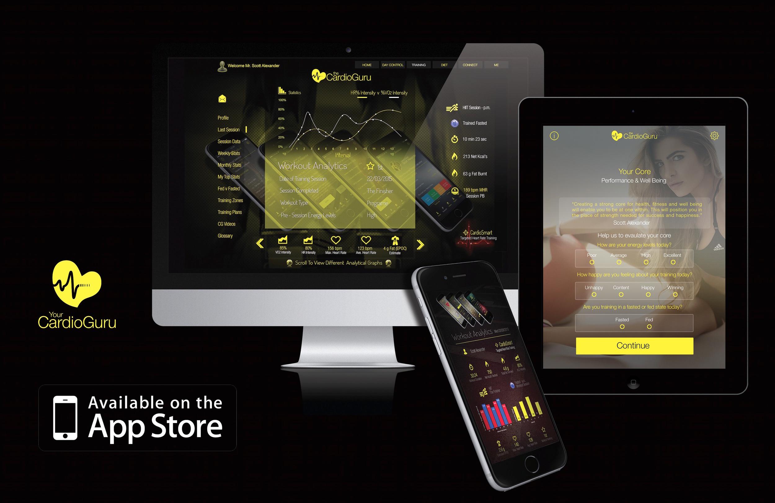 Both Your CardioGuru & Your CardioGuru Pro available on :iOS 8 or later, iPhone 5 or later, iPad Air, iPad Mini, iPad Pro