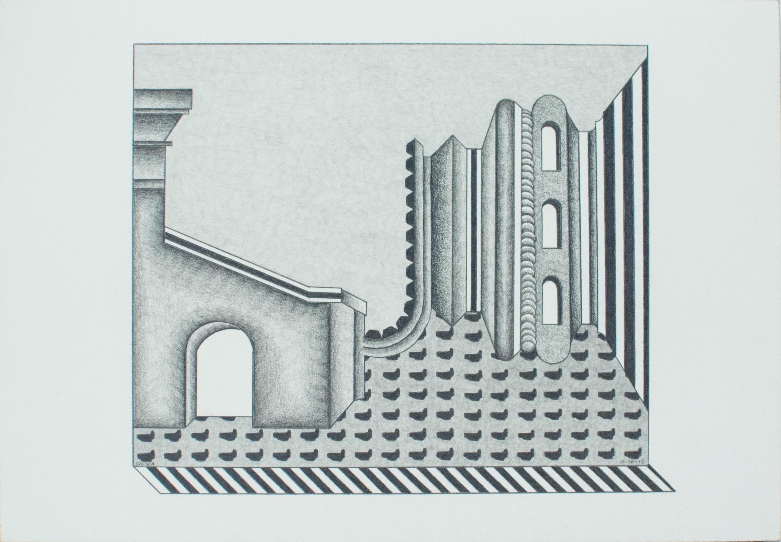 11-10-15, 2015, Graphite on paper, 7 x 10 inches