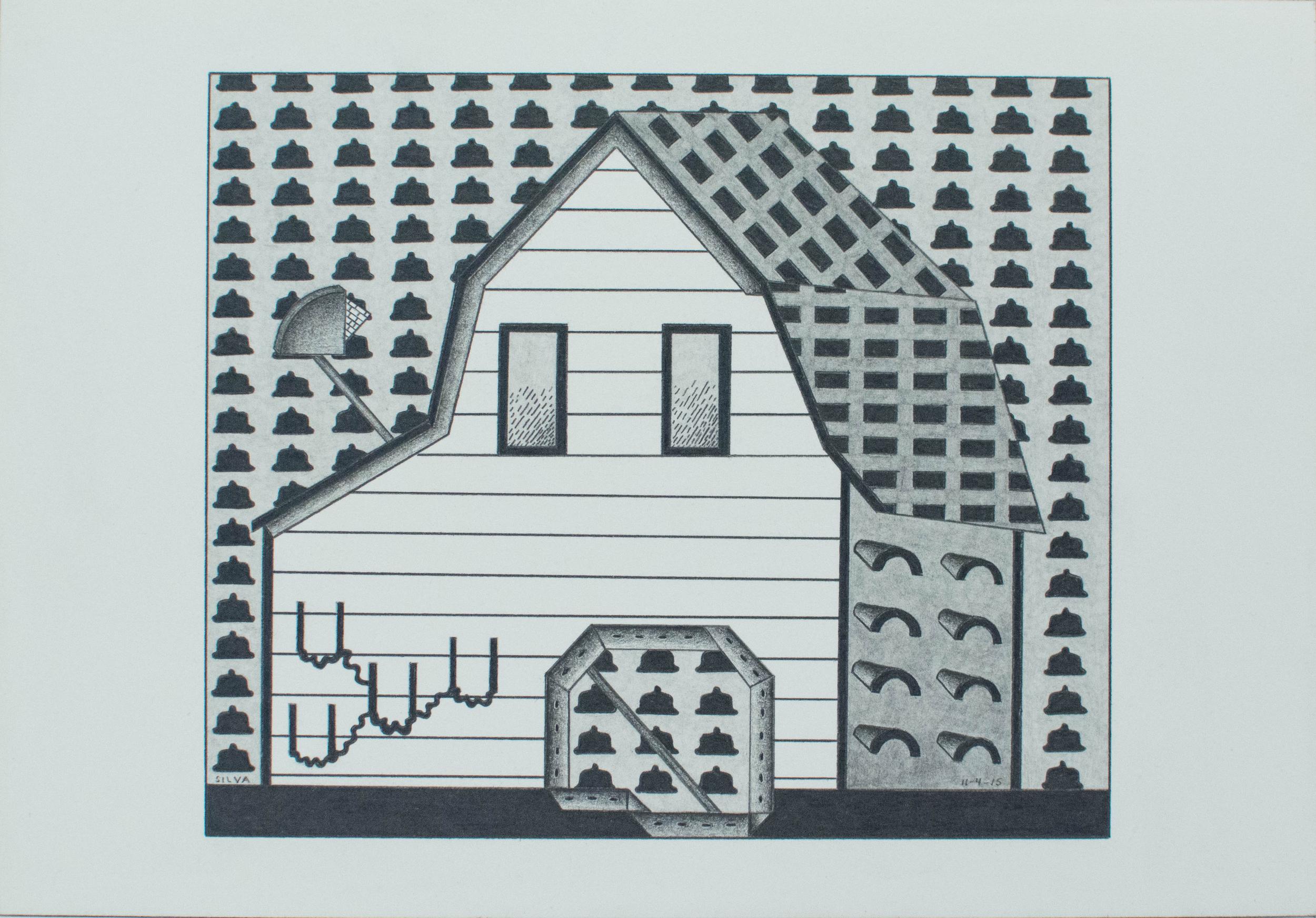 11-4-15, 2015, Graphite on paper, 7 x 10 inches