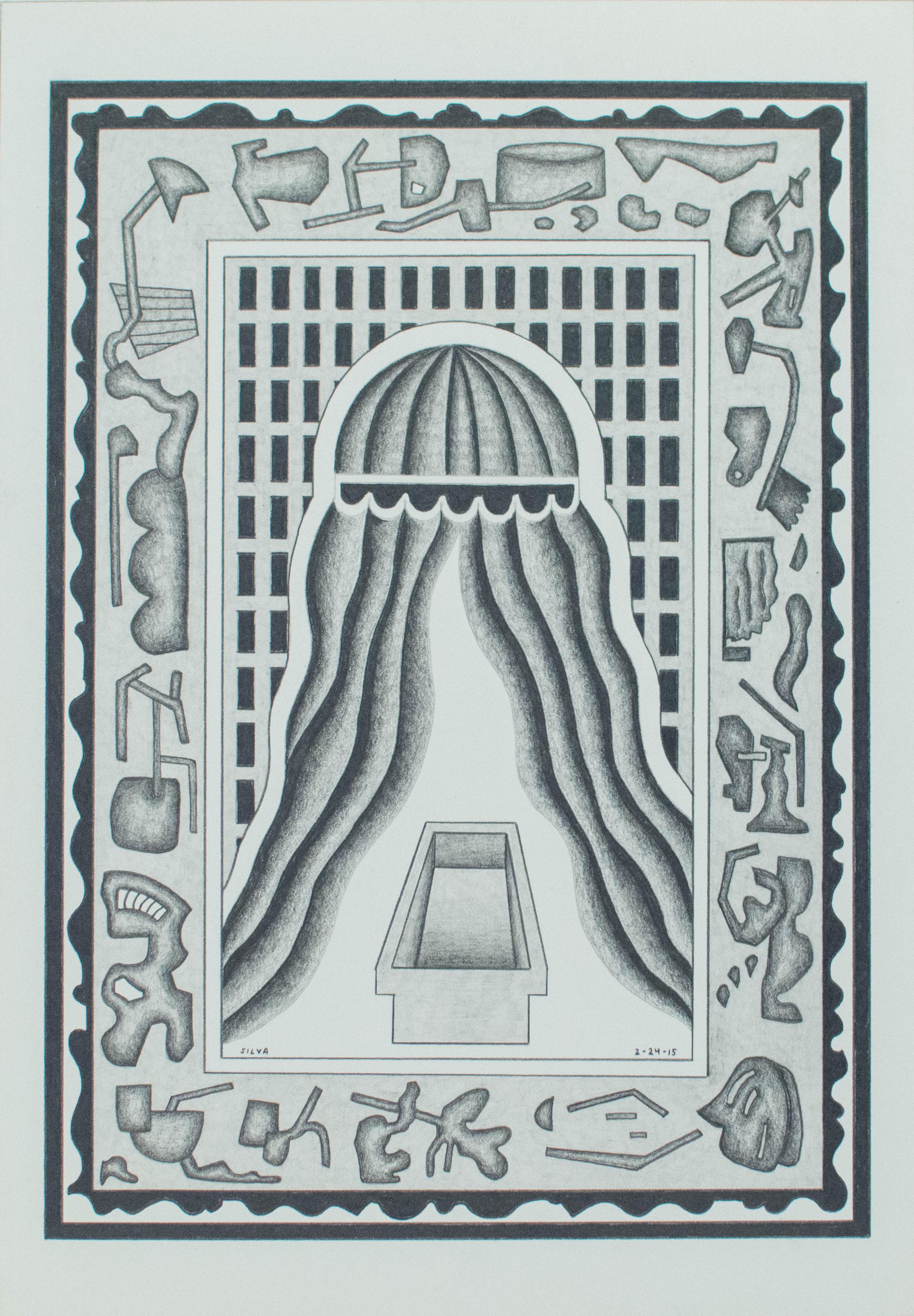 2-24-15, 2015, Graphite on paper, 7 x 10 inches