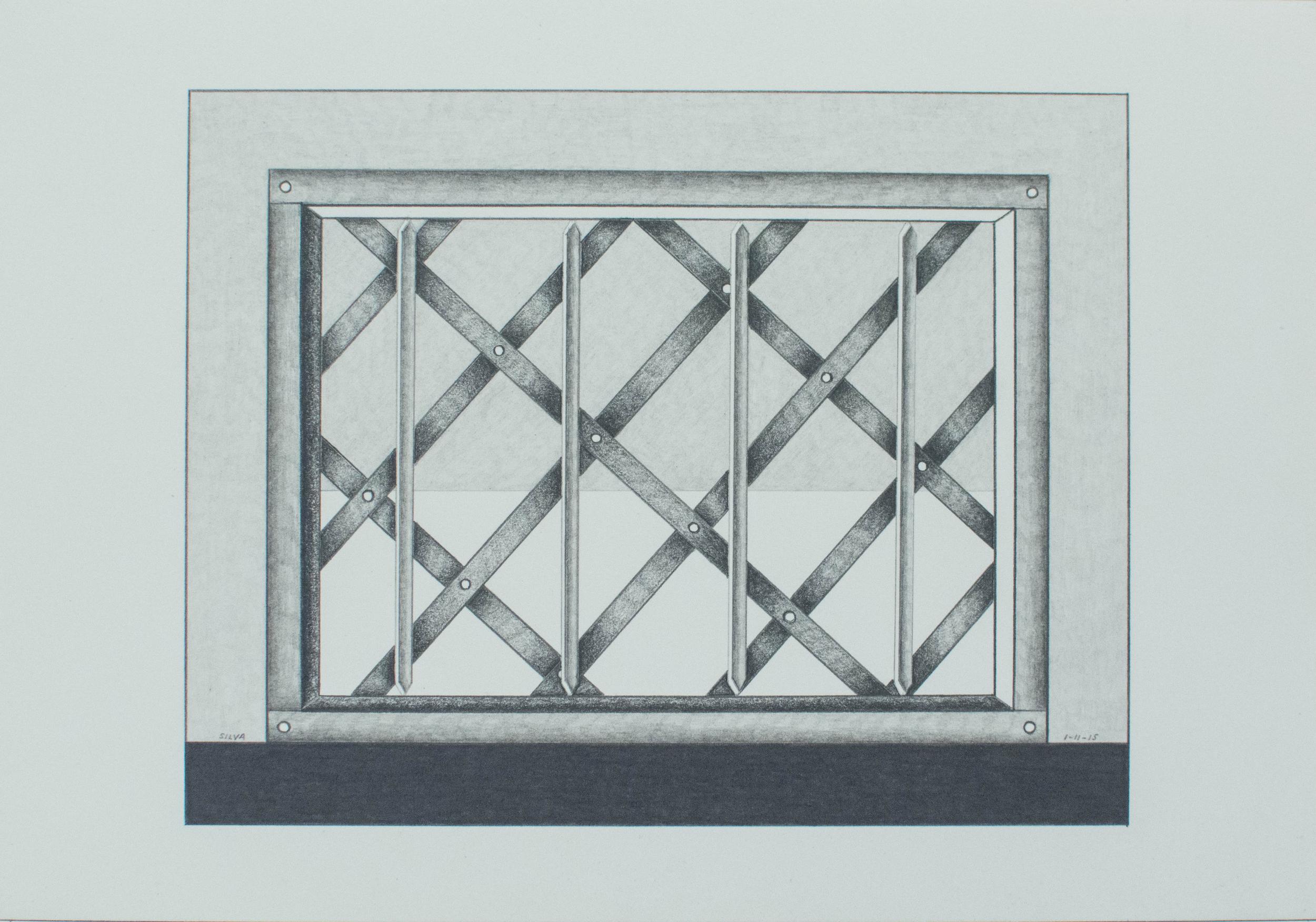 1-11-15, 2015, Graphite on paper, 7 x 10 inches