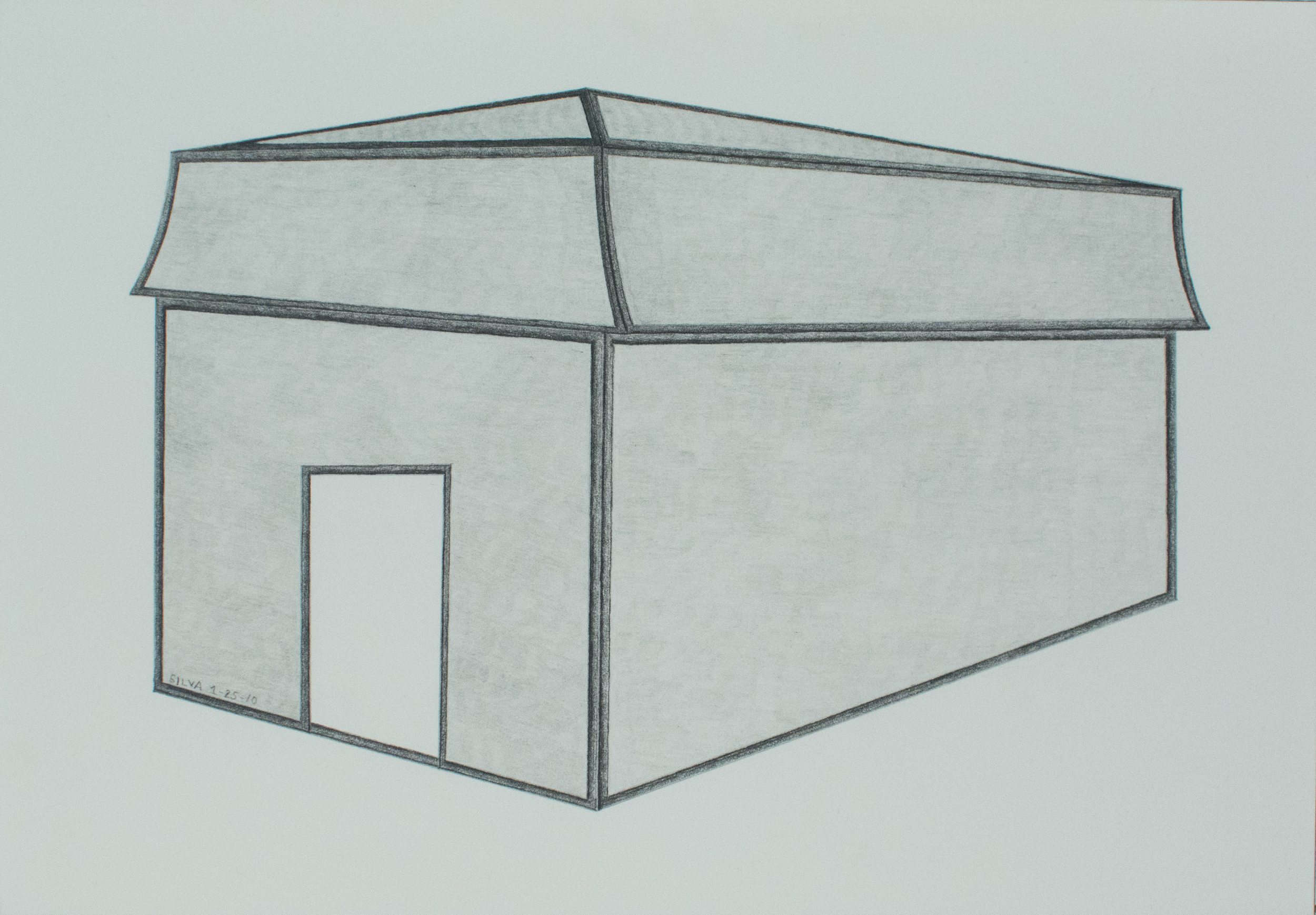 1-25-10, 2010, Graphite on paper, 7 x 10 inches
