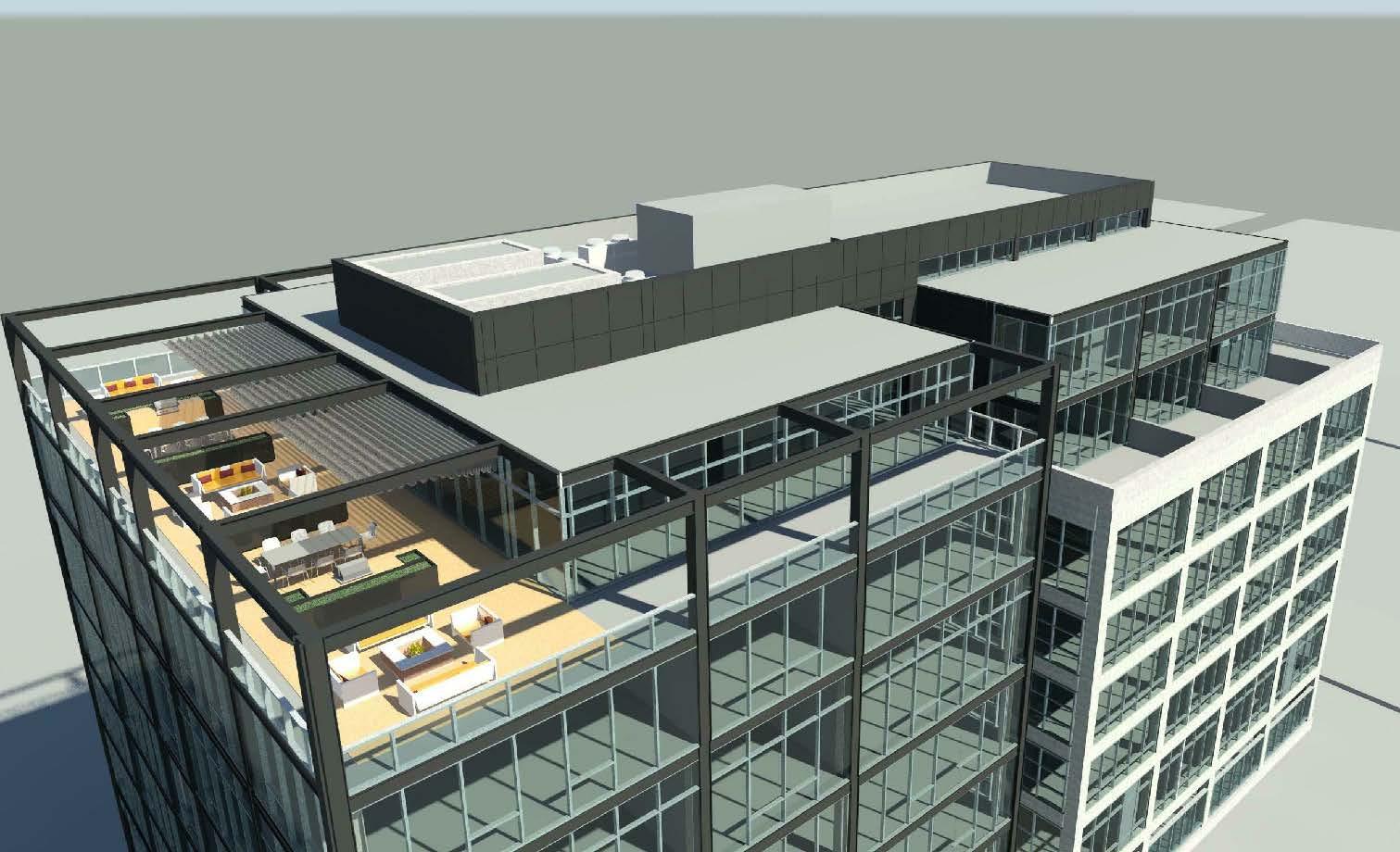 Rooftop amenity deck at 676 N LaSalle