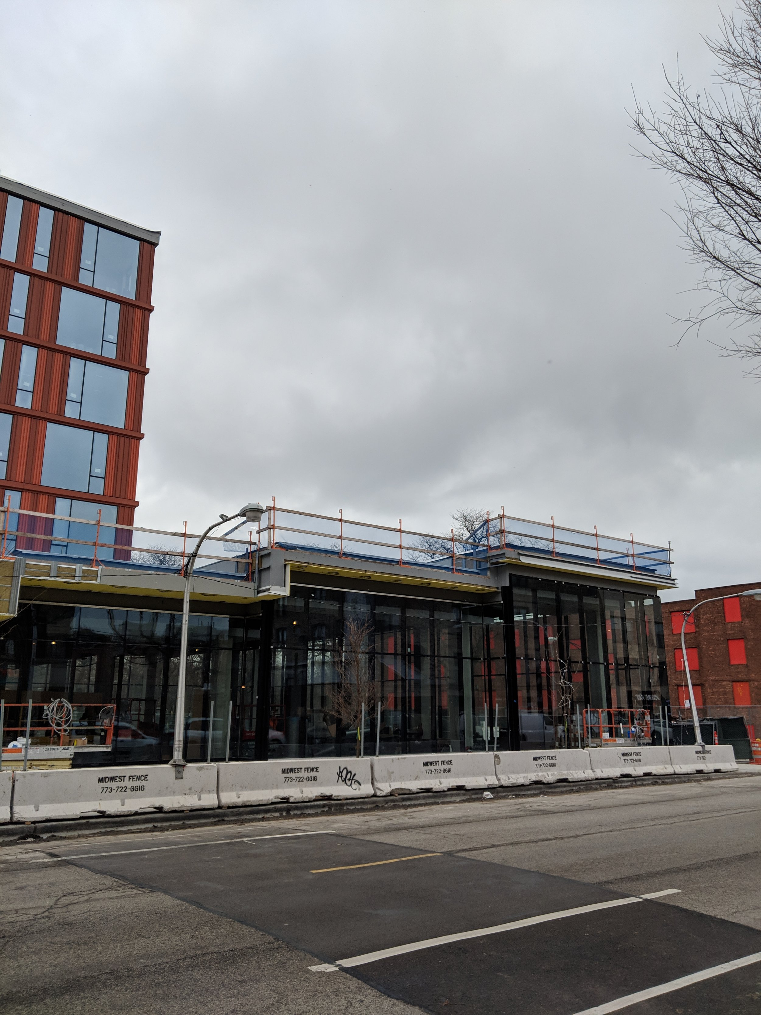 Southeast corner of new Taylor St. Library (photo by George Guarino)