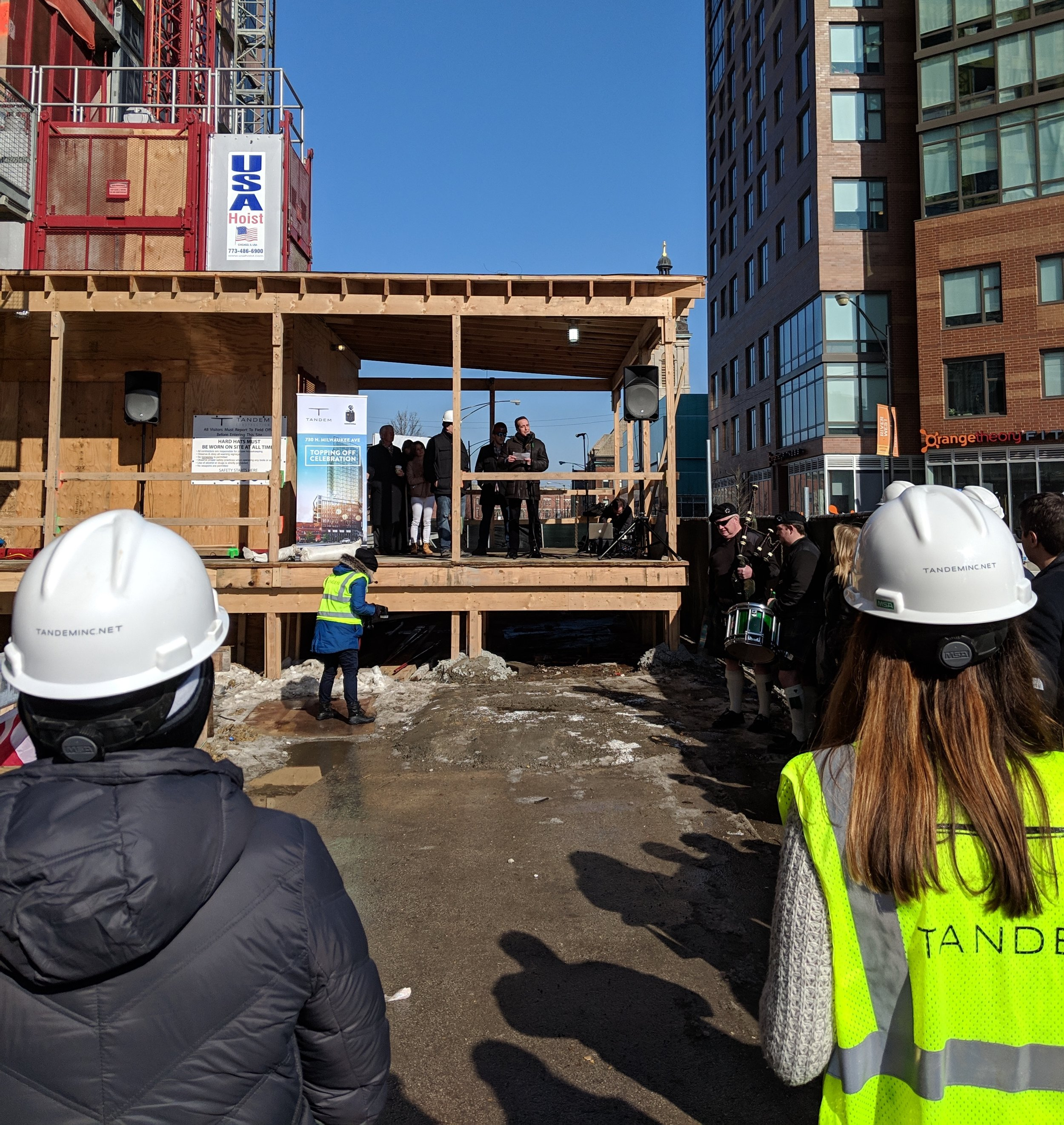 Topping off ceremony on 2/21/19