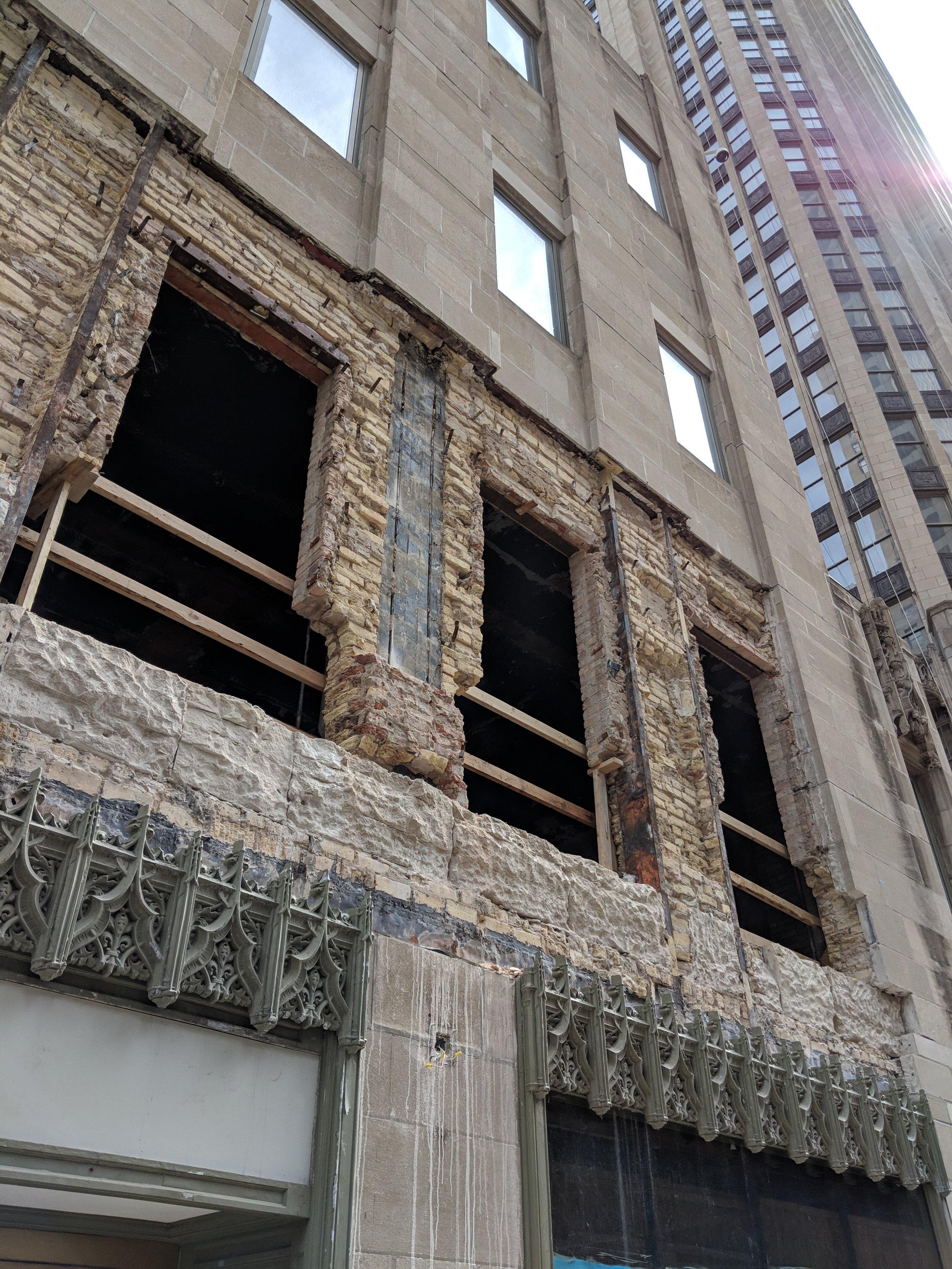 Tribune Tower façade renovation and restoration