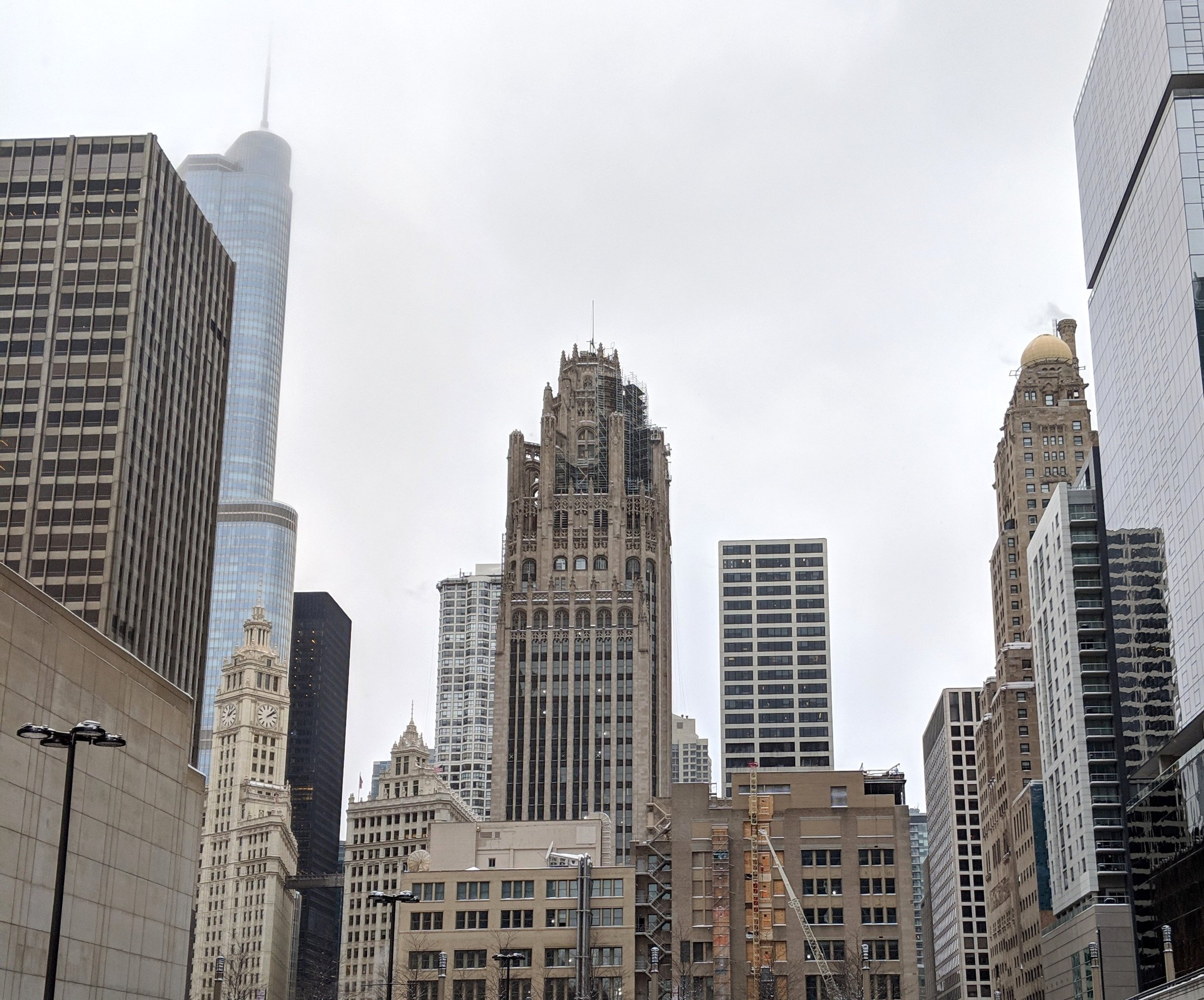 Tribune Tower in January 2019
