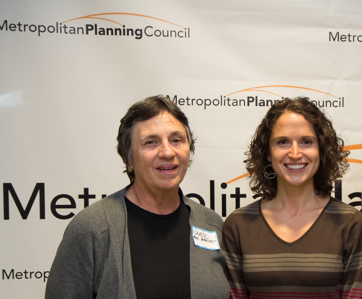 Carol Ross Barney, founding architect of Ross Barney Architects, and Marisa Novara, then a project manager at Metropolitan Planning Council. Photo courtesy of MPC.