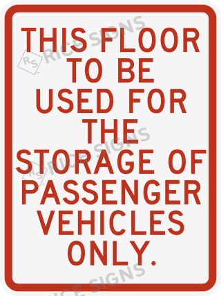 A sample sign to comply with the updated Chicago building code.