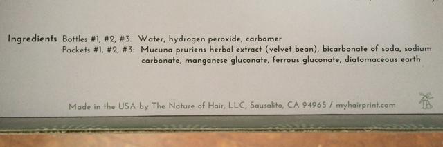 Hairprint Ingredients
