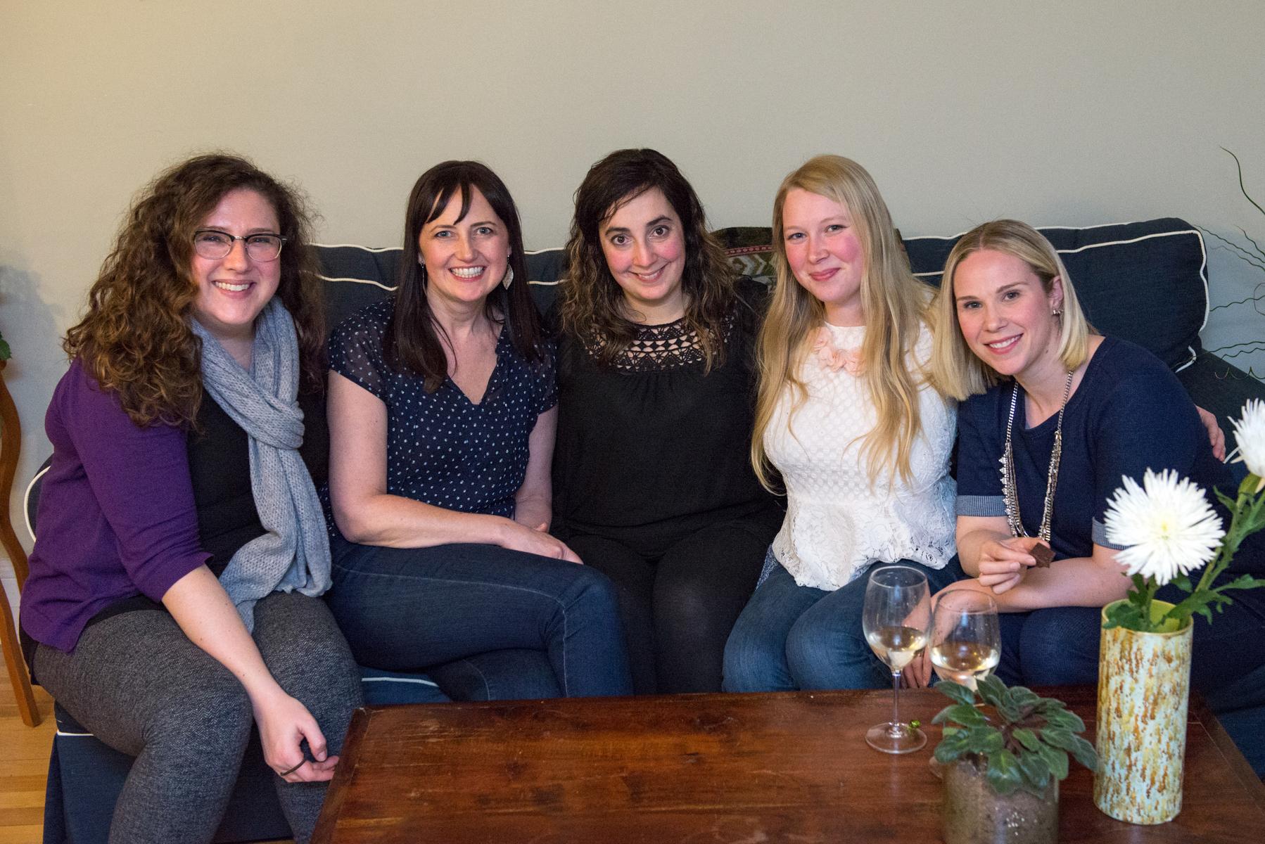 Beautiful ladies: Michelle, Heidi, Moi, Sarah & Celine!