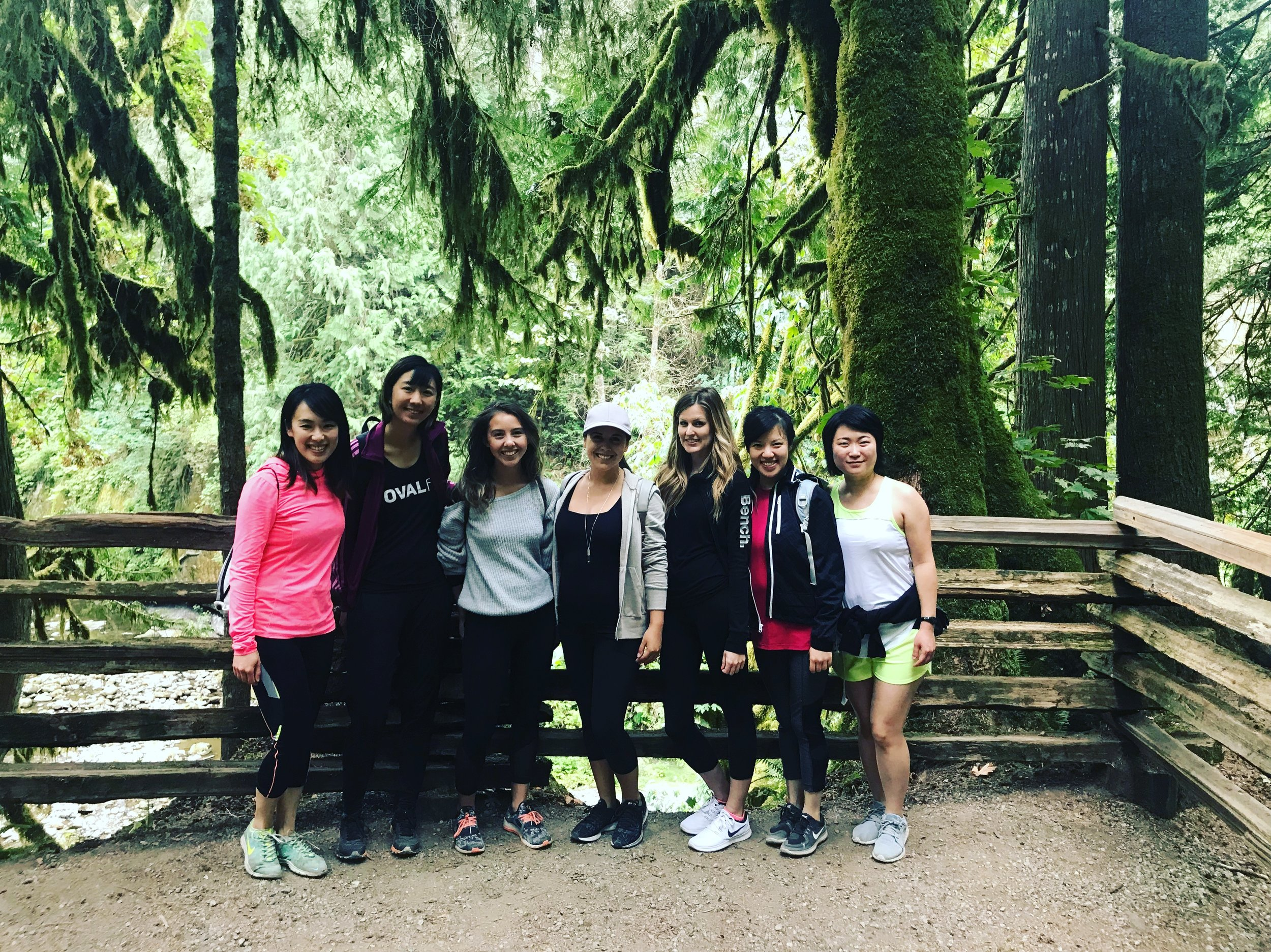 Heartventure, Kanaka Creek Falls, BC- Group Shot!
