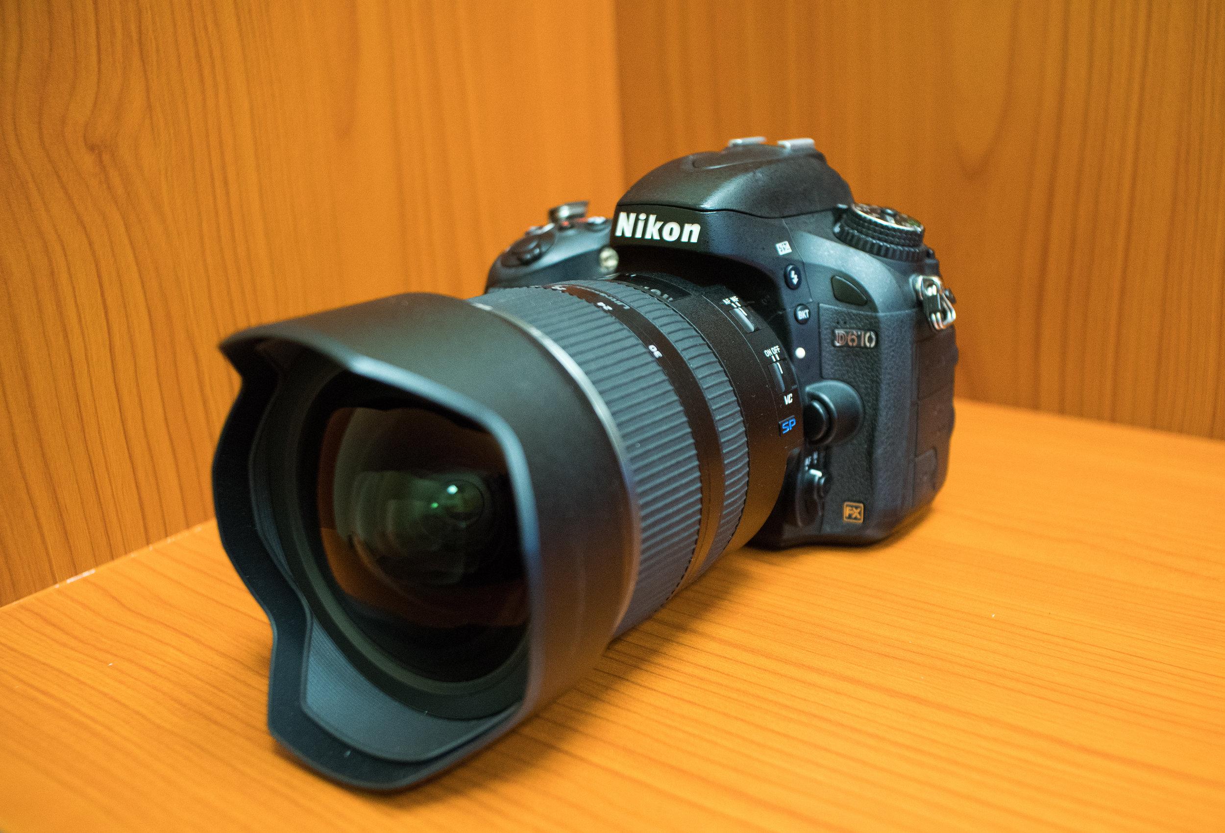 Tamron SP 15-30mm f/2.8 Di VC USD lens mounted on a Nikon D610.