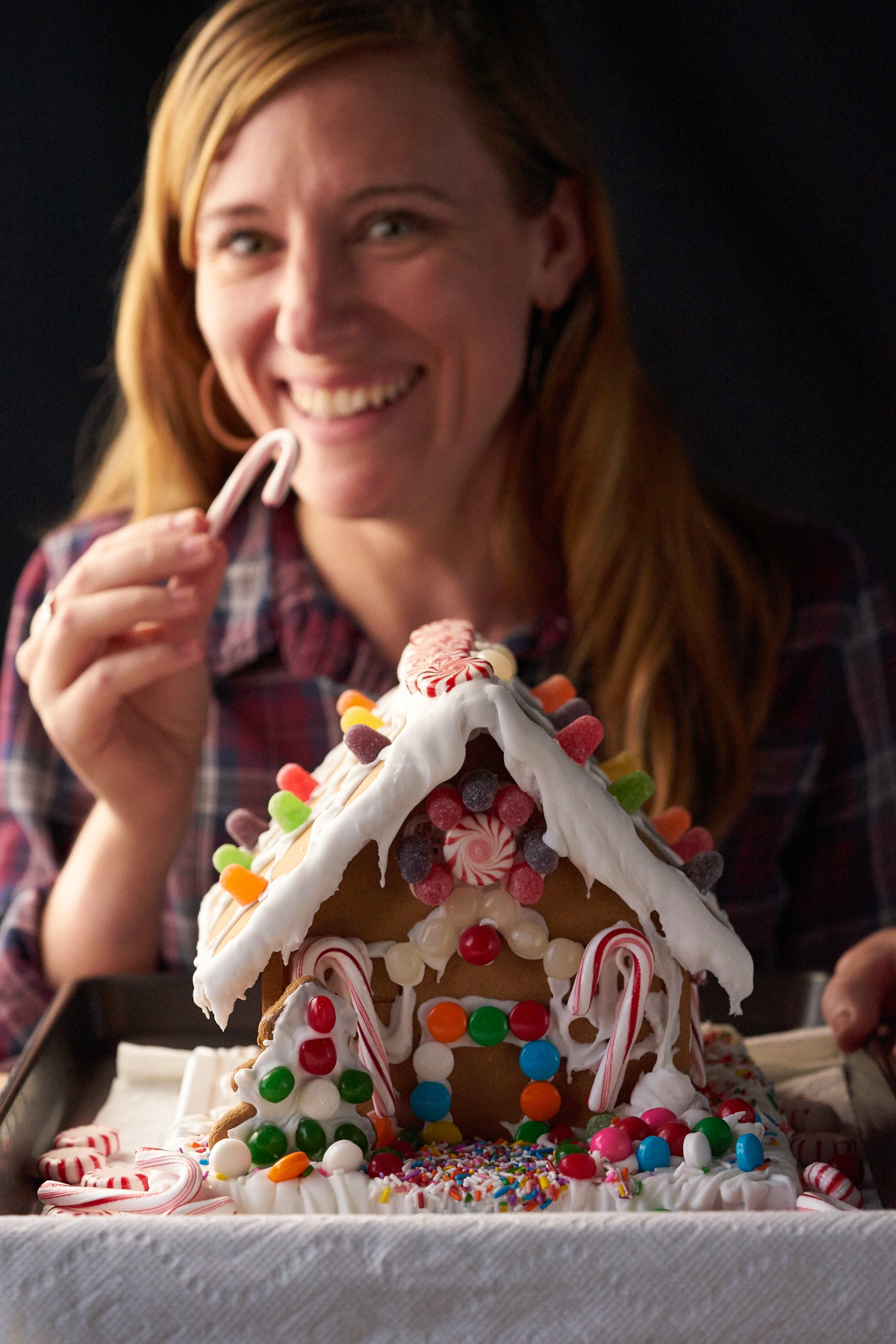 We started with our studio manager; Pamela, who made a gingerbread house because she shared many holiday seasons with her grandmother building and decorating them.
