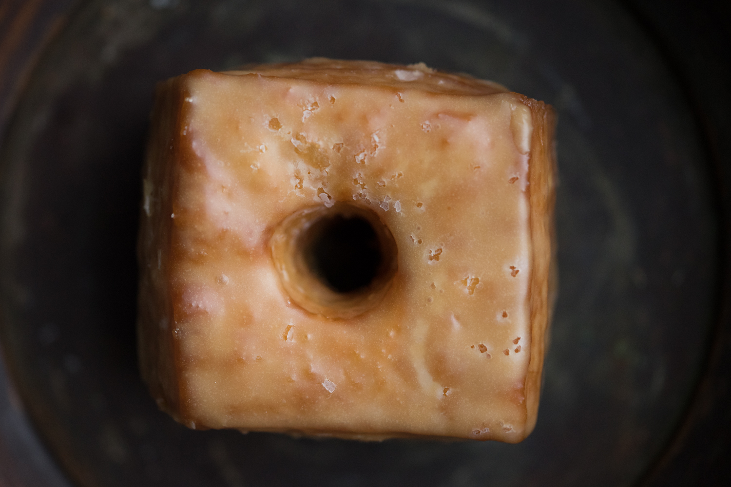 Unique square doughnuts from Doughnut Savant. The doughnut pictured above was sprinkled with sea salt.