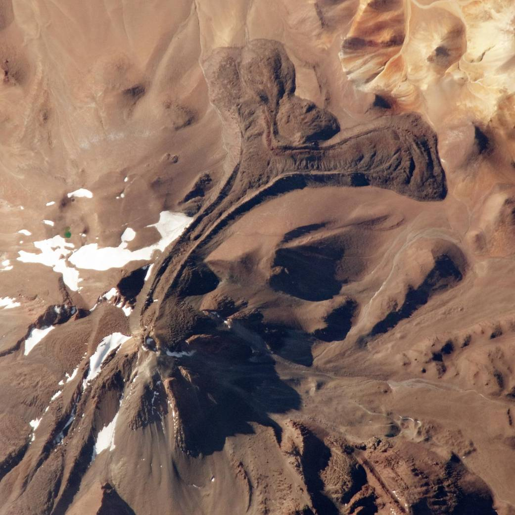 NASA - Llullaillaco from space.