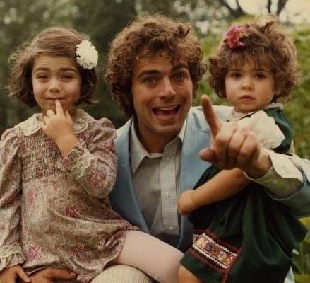 A younger John Schultz with his daughters Megan and Katie.