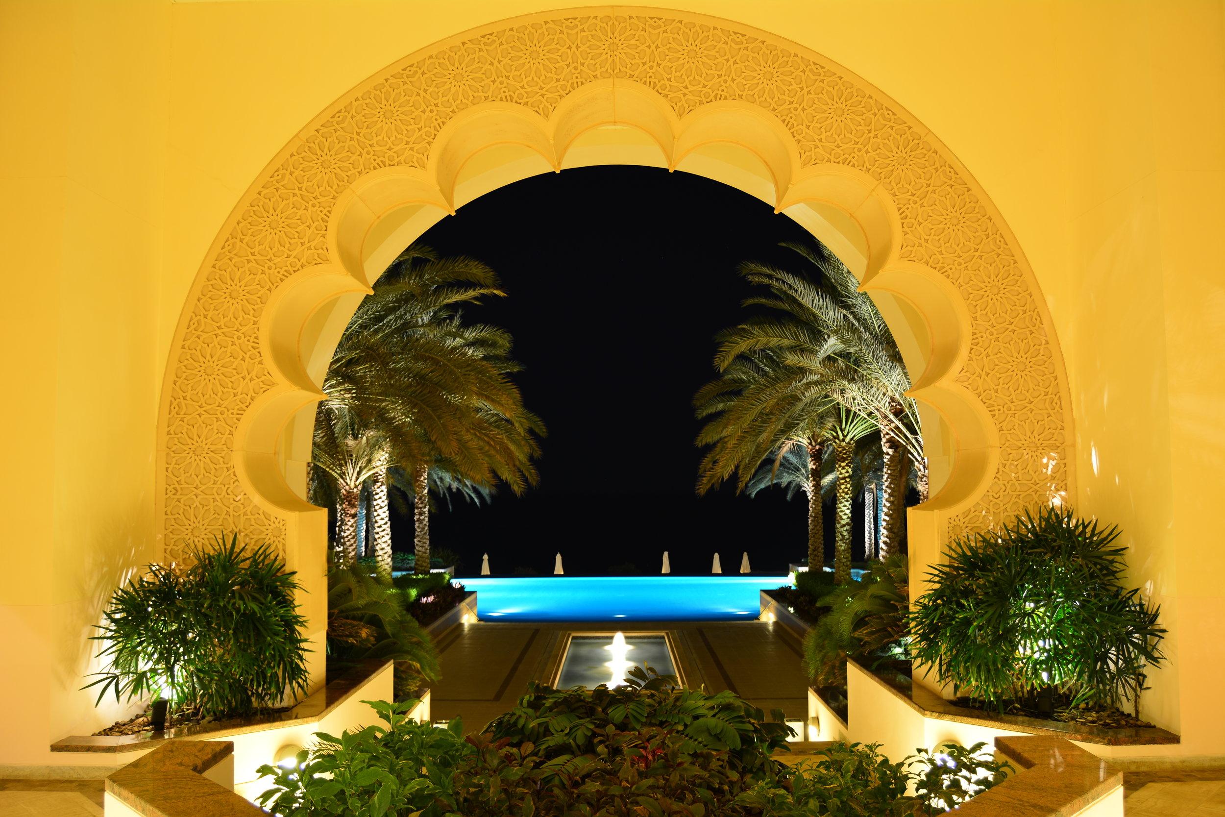 Al Husn - Courtyard at Night (Shangri-La Muscat)