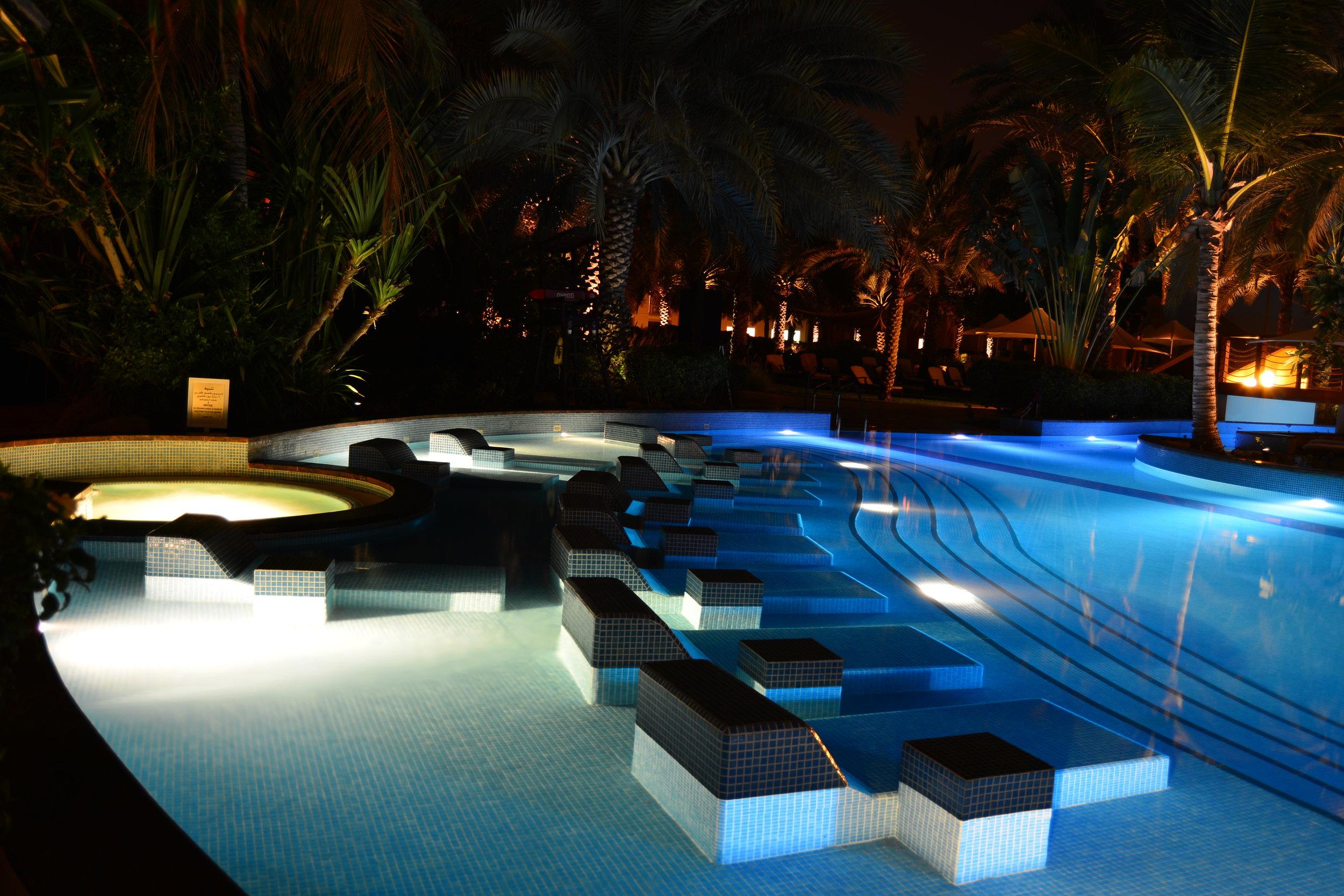 Al Bandar - Pool at Night (Shangri-La Muscat)
