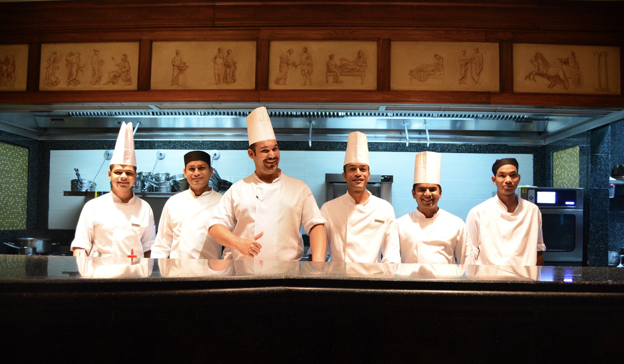 Executive Chef Enrico Degani and his team