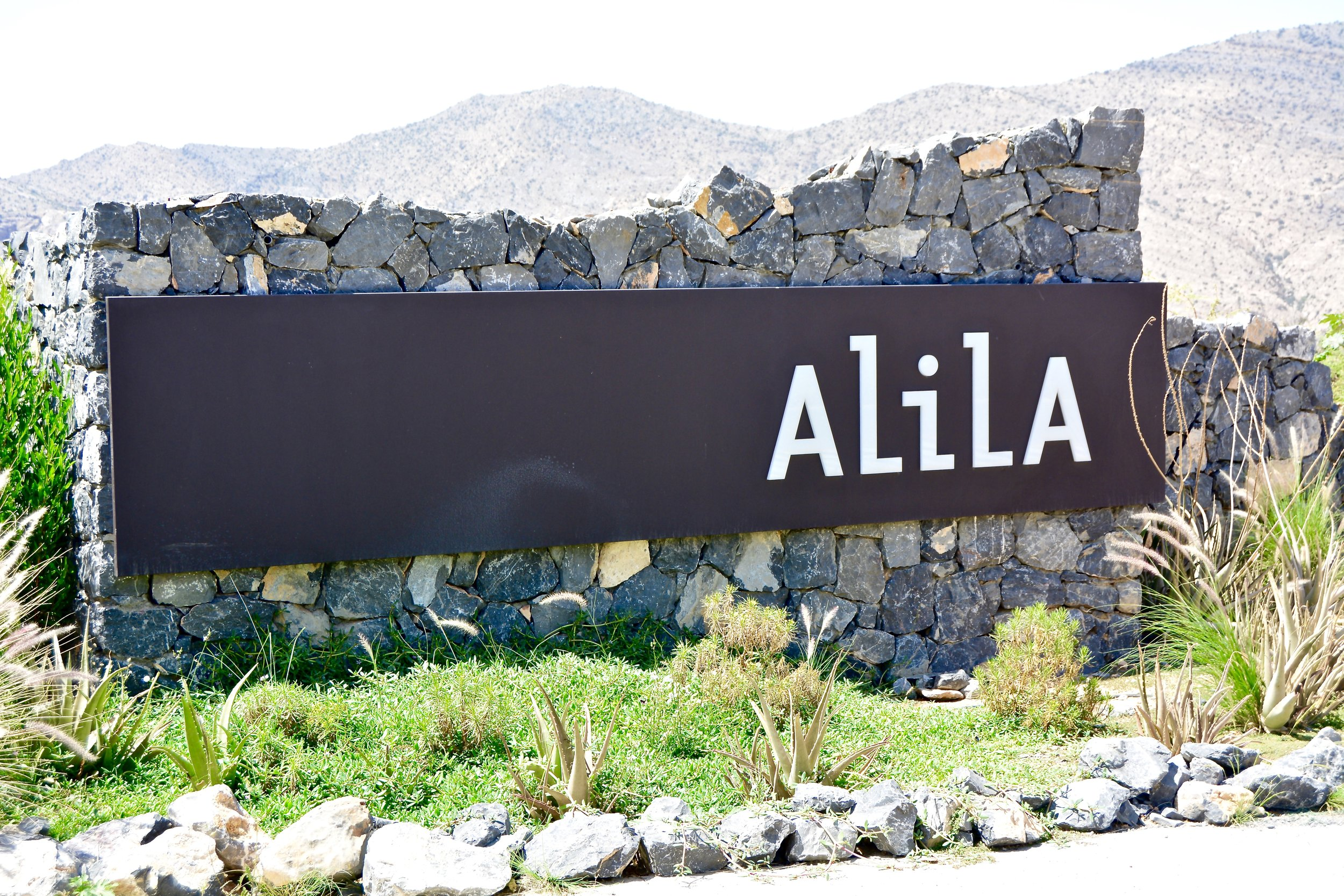 Entrance Signage (Alila Jabal Akhdar)