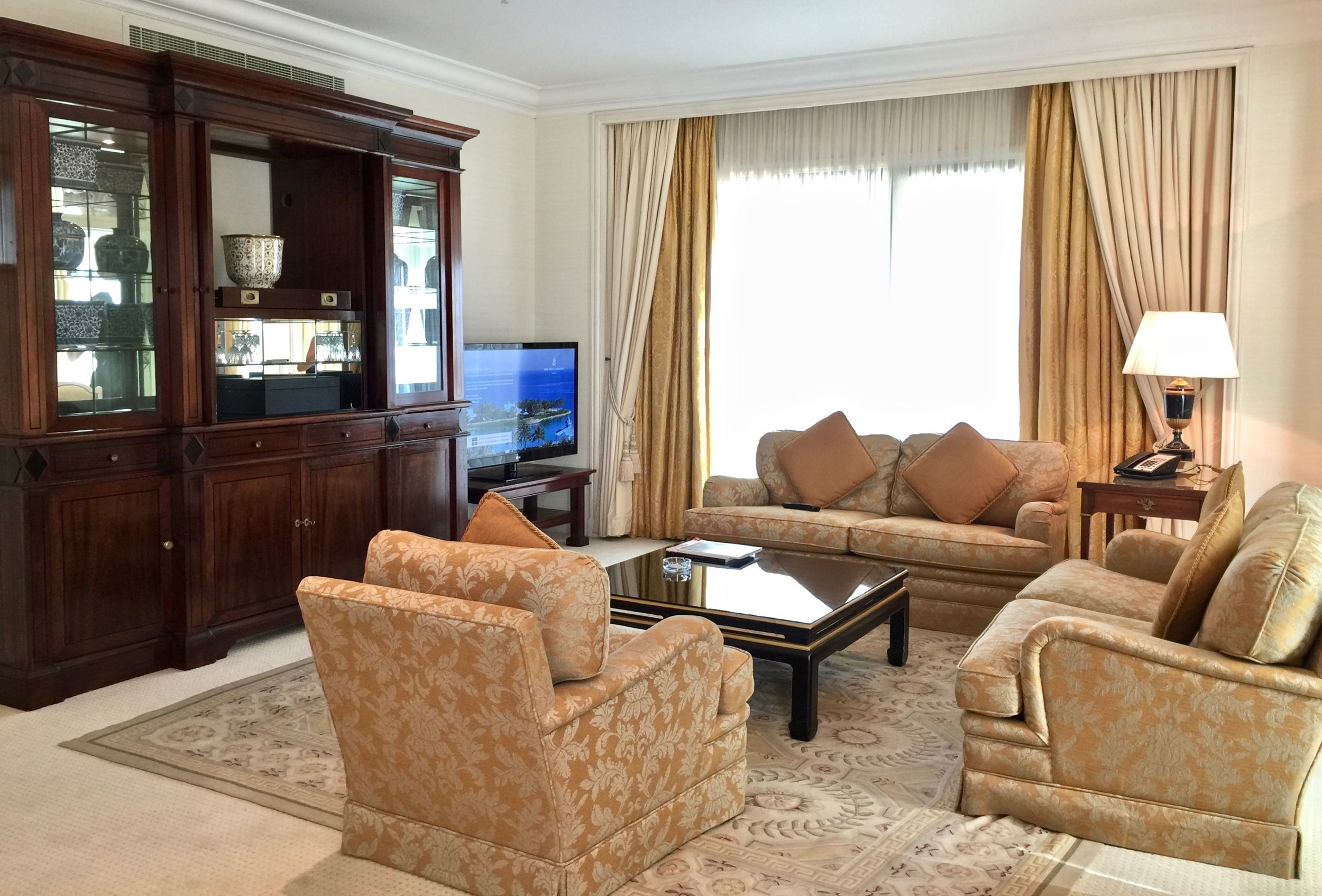 Diplomatic Suite - Living Room (The Ritz-Carlton, Bahrain)