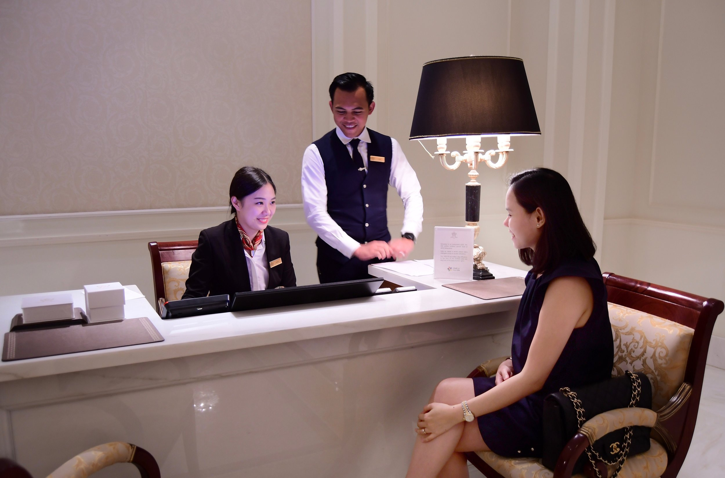 Front Desk Officer, Fanny (Palazzo Versace Dubai)