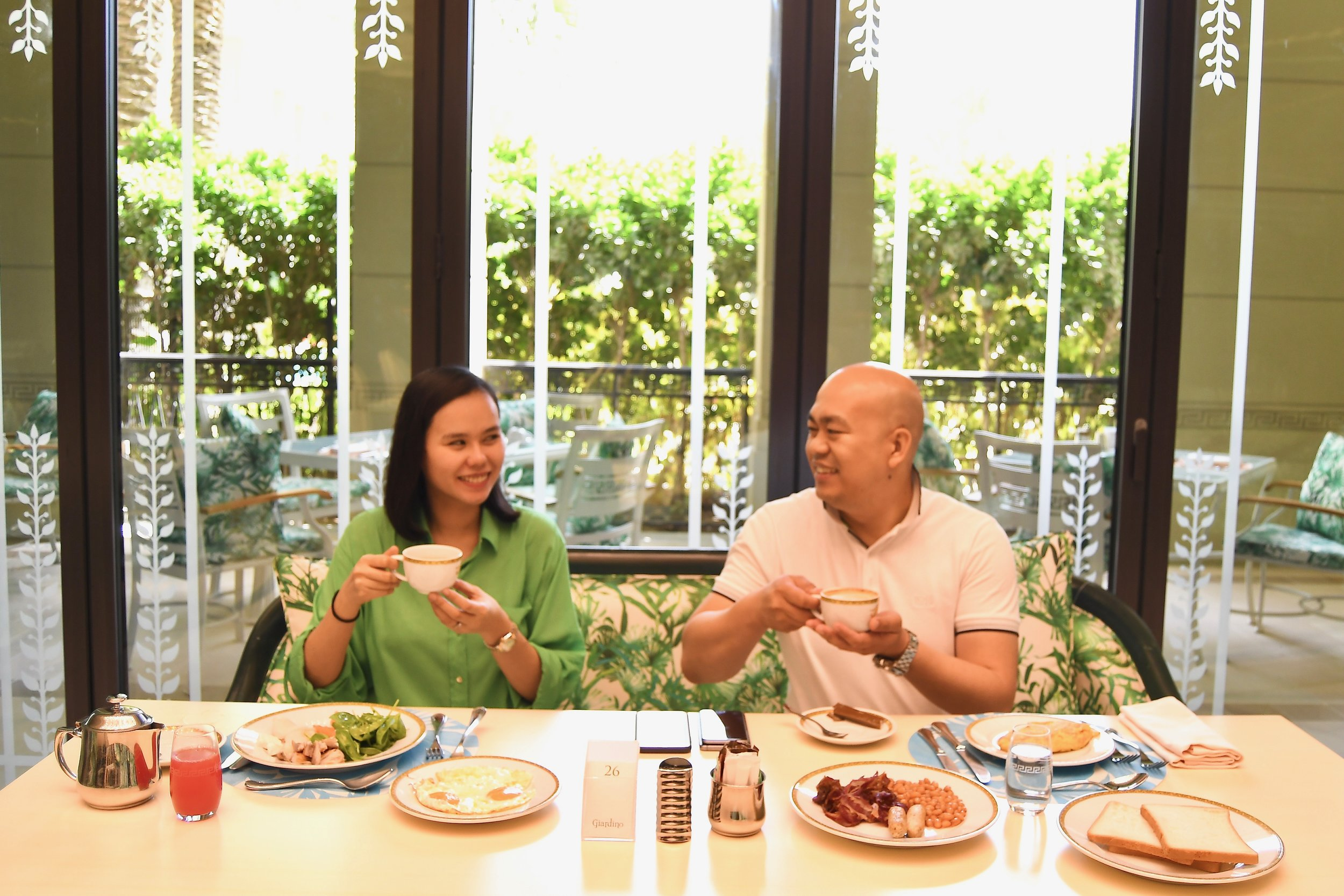 Breakfast at Giardino (Palazzo Versace Dubai)