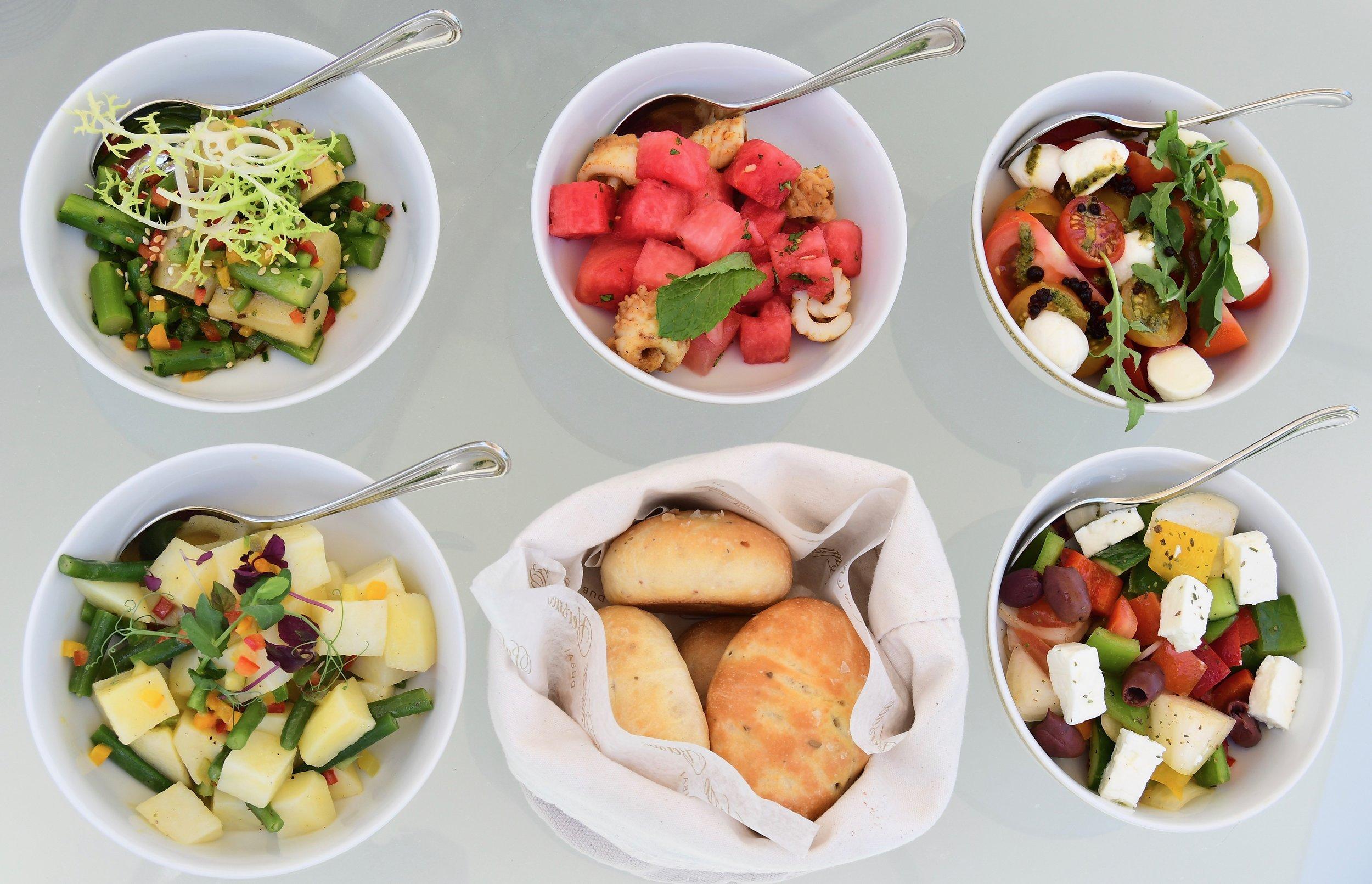Amalfi - Bread and Salad (Palazzo Versace Dubai)
