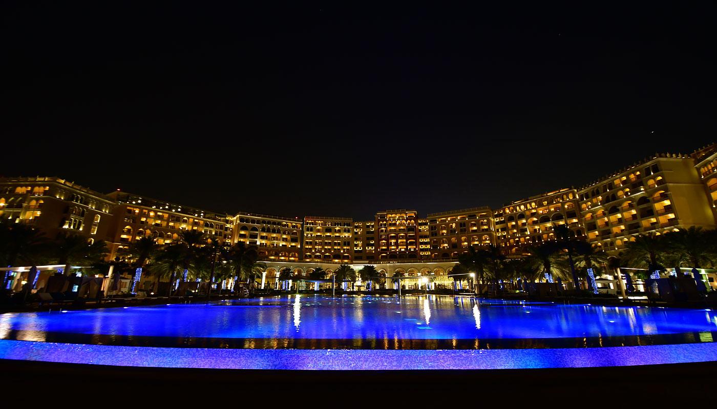 Pool at night (The Ritz-Carlton, Abu Dhabi)