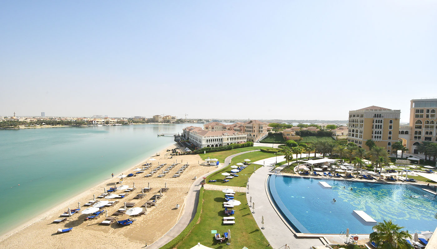 View from our balcony (The Ritz-Carlton, Abu Dhabi)