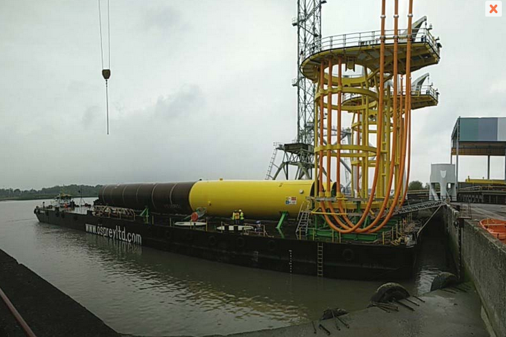 Onshore installed J-tube