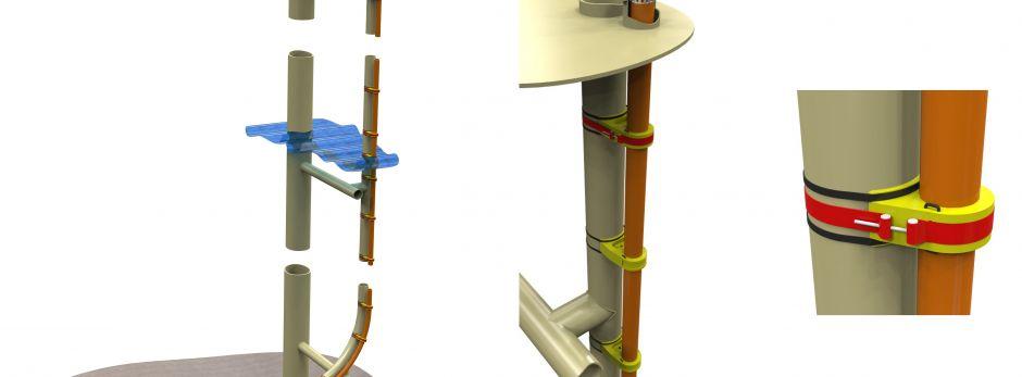 Seaproof retrofit J-tube