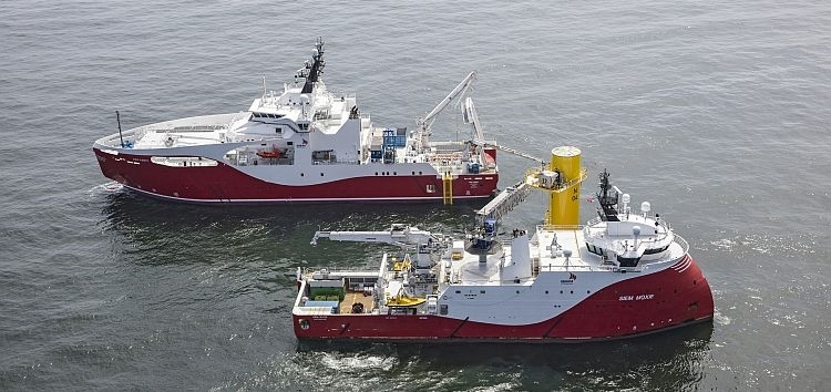 Siem Aimery and Siem Moxie are working together on the Nordsee One offshore windfarm