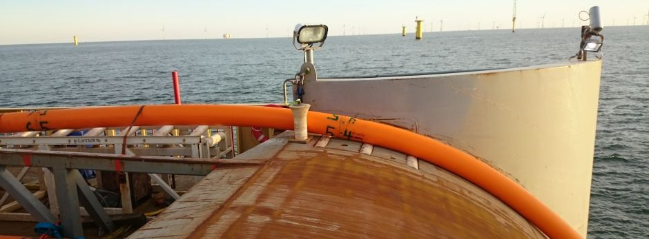 Offshore wind cable installation.