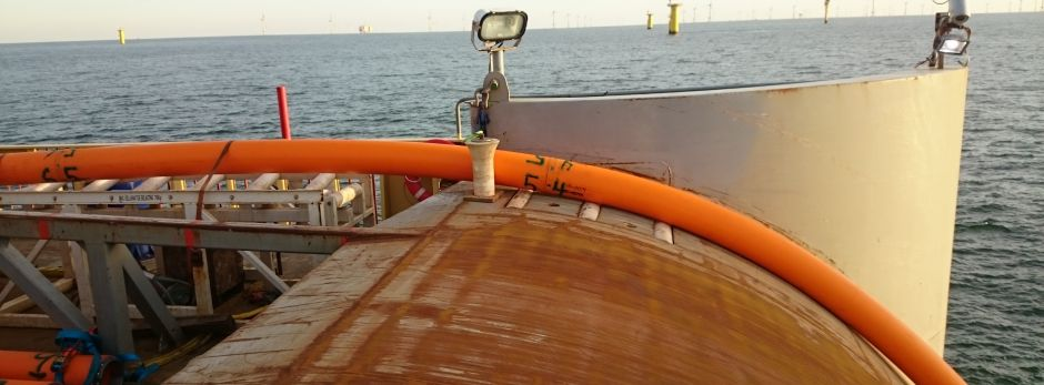 Photo by Seaproof Solutions Offshore wind cable installation.
